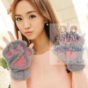 Лапки-перчатки серые