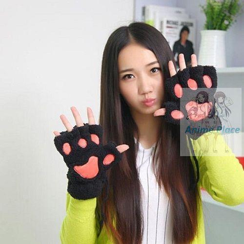 Лапки-перчатки черные