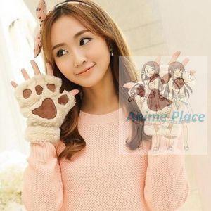 Лапки-перчатки бежевые