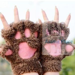 Лапки-перчатки коричневые